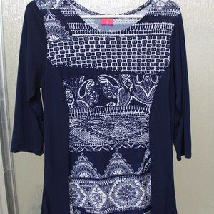 Panza Tunic with 3/4 Sleeves